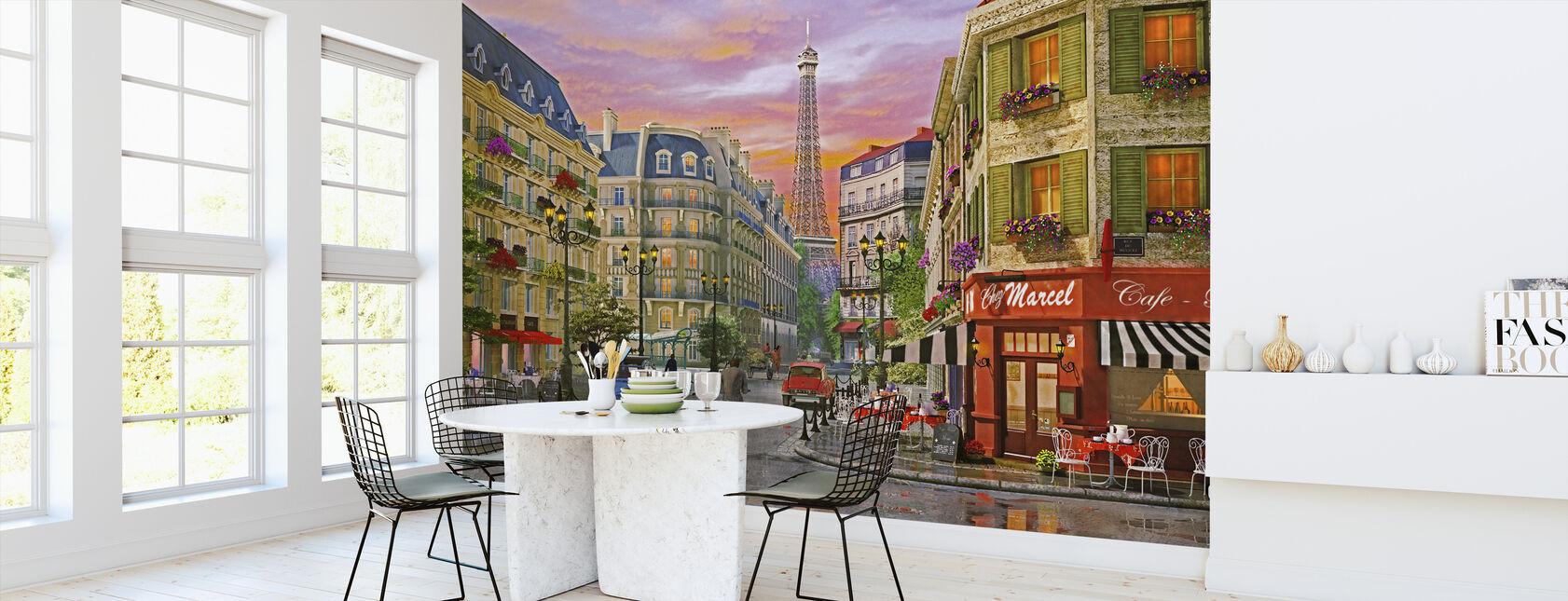 Rue Paris - Papier peint - Cuisine