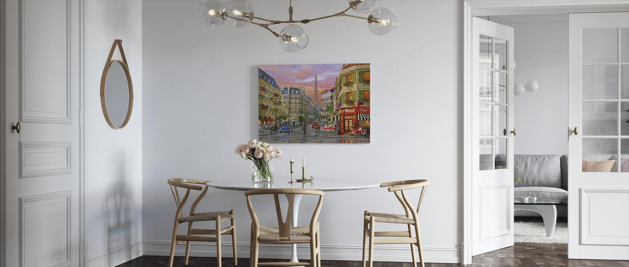 Paris Street - Canvas print - Kitchen