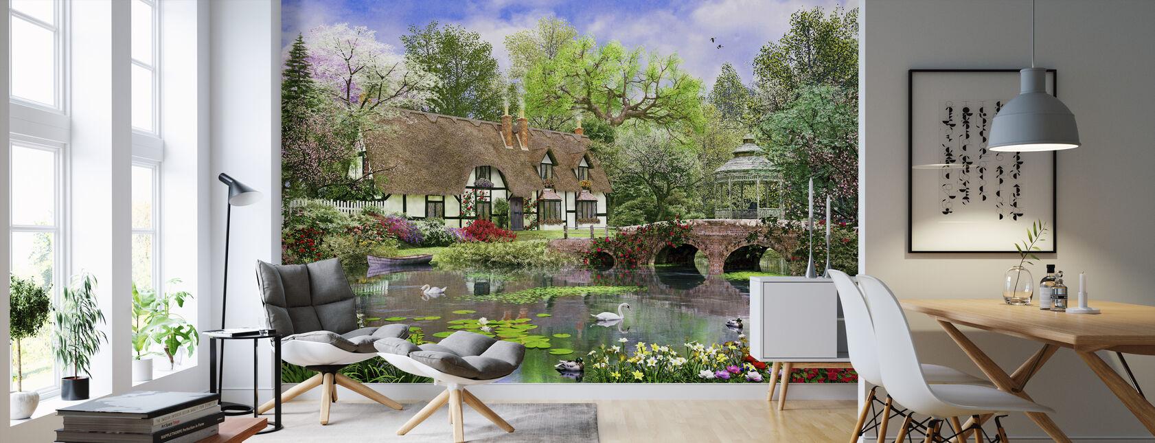 April Cottage - Behang - Woonkamer