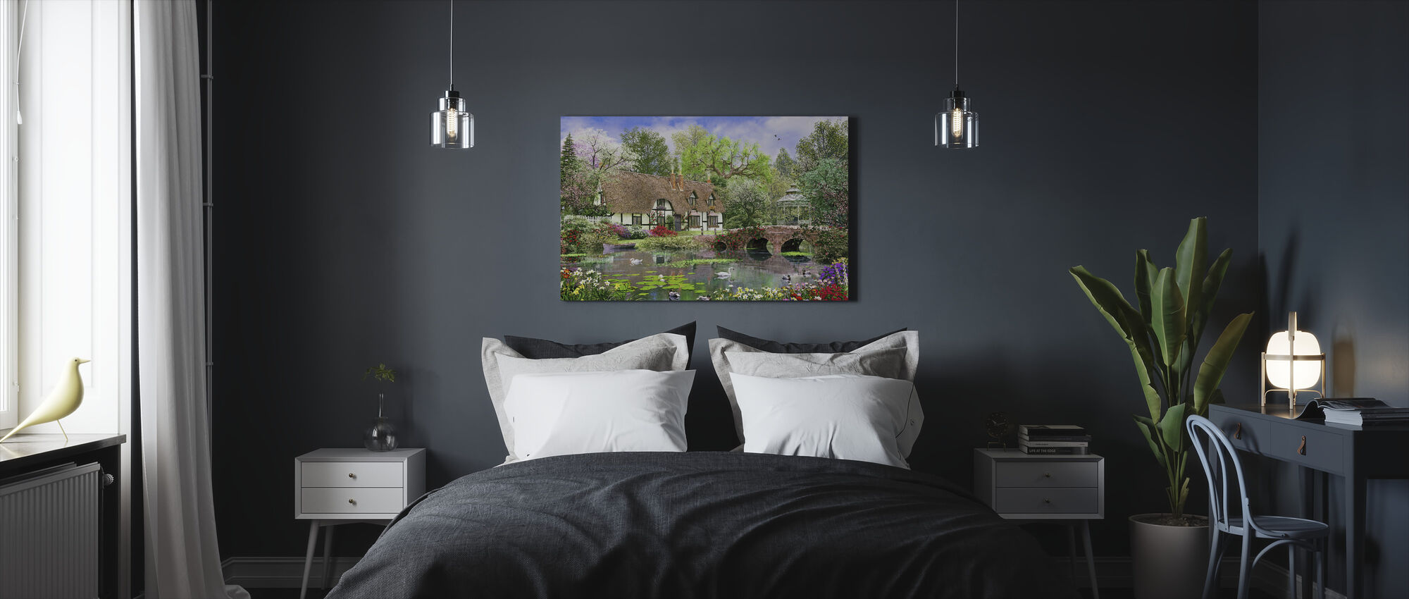 April Cottage - Canvas print - Slaapkamer