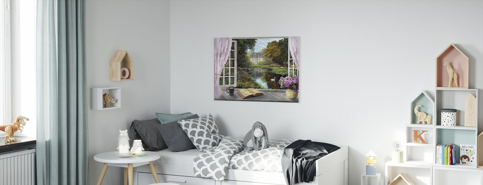 Window with a View - Canvas print - Kids Room