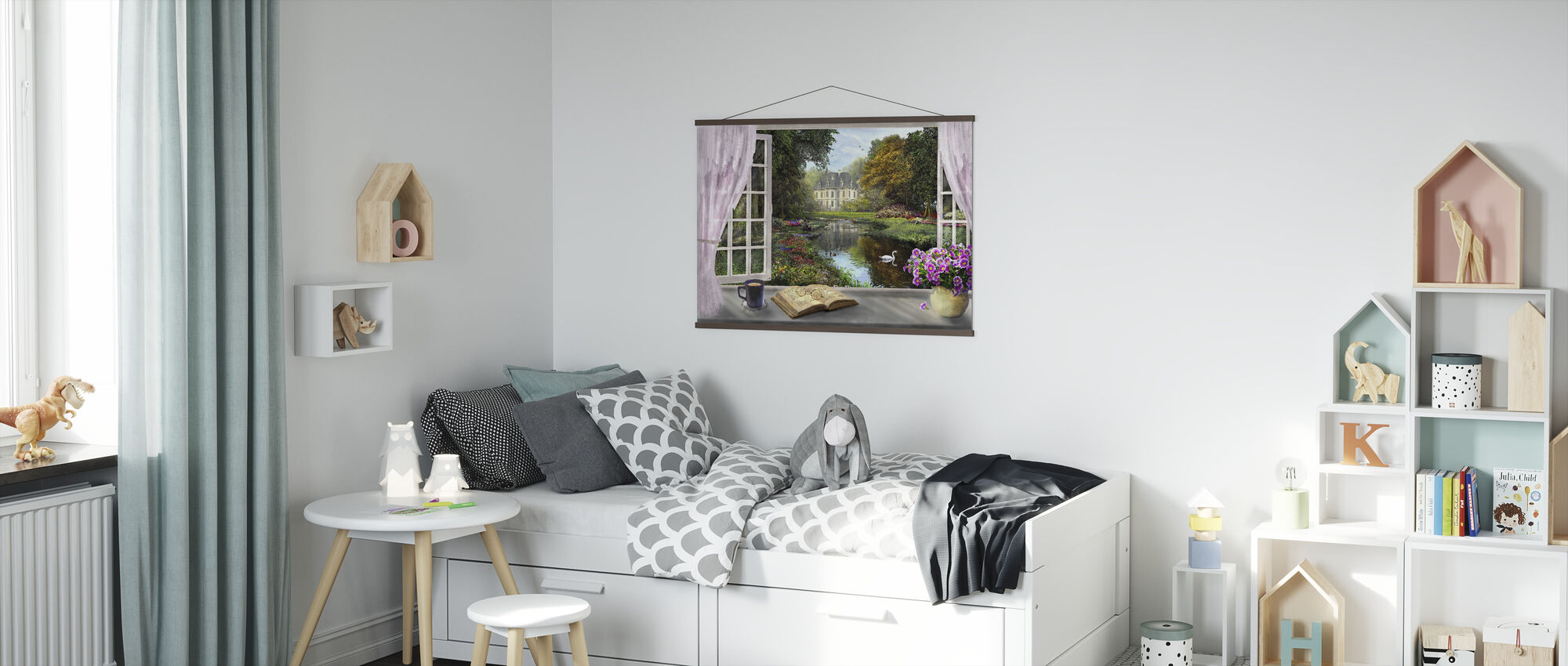 Window with a View - Poster - Kids Room