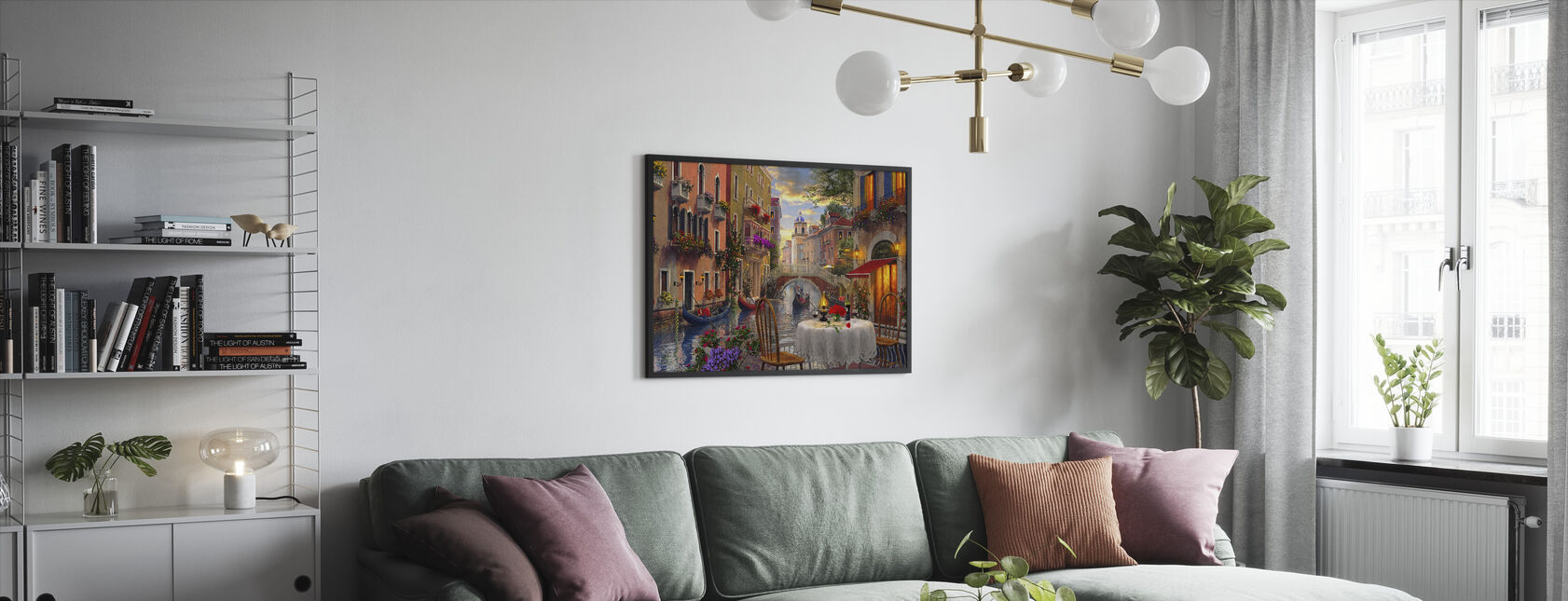 Venice Al Fresco - Framed print - Living Room