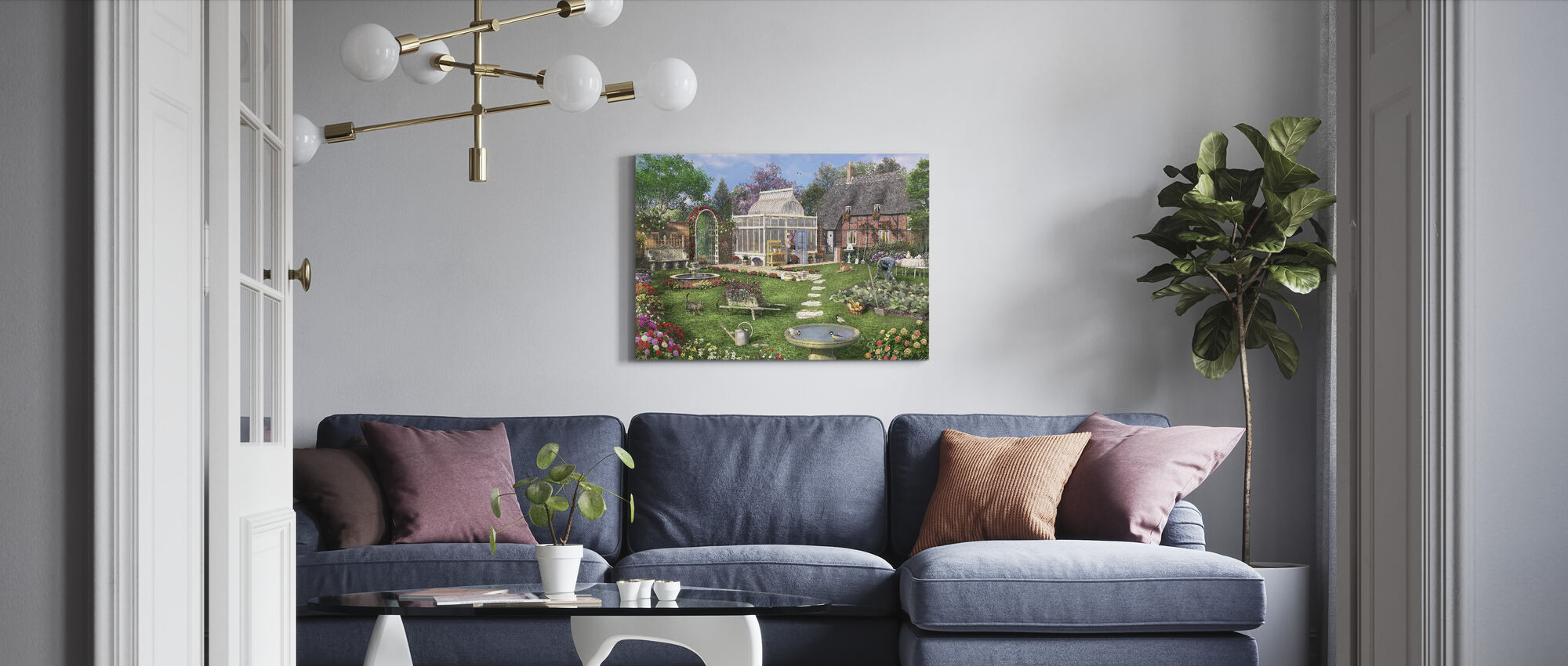 De Cottage Tuin - Canvas print - Woonkamer