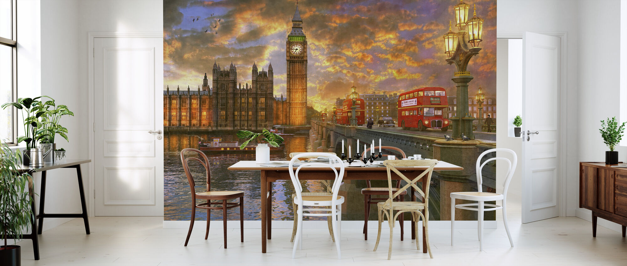 Westminster Sunset - Wallpaper - Kitchen