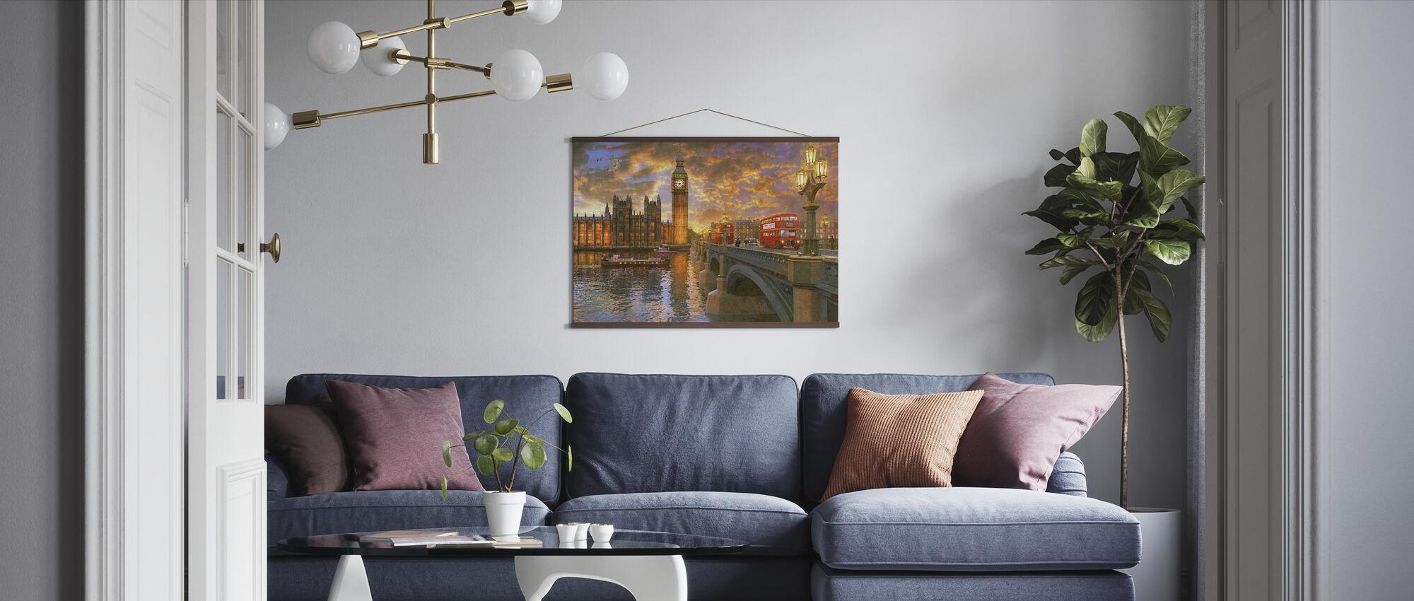 Westminster Sunset - Poster - Living Room