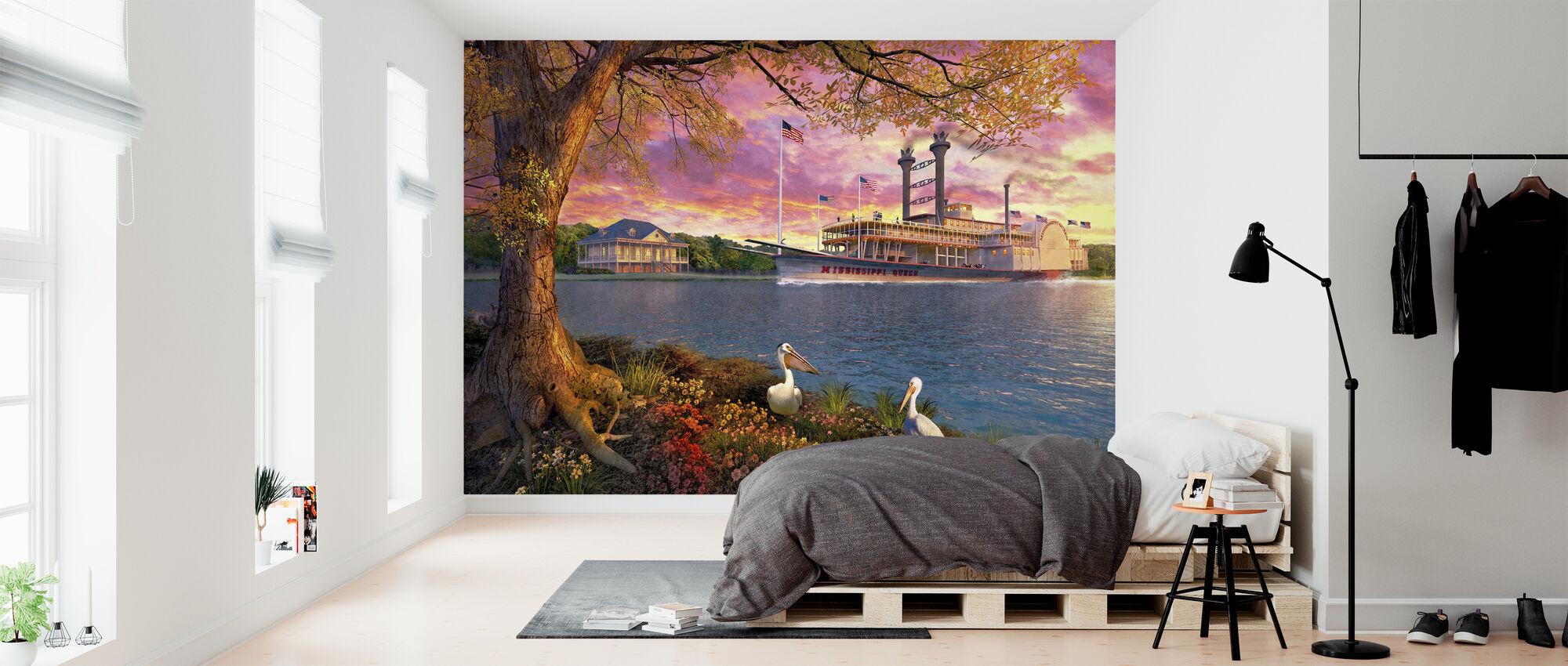 Mississippi-koningin - Behang - Slaapkamer