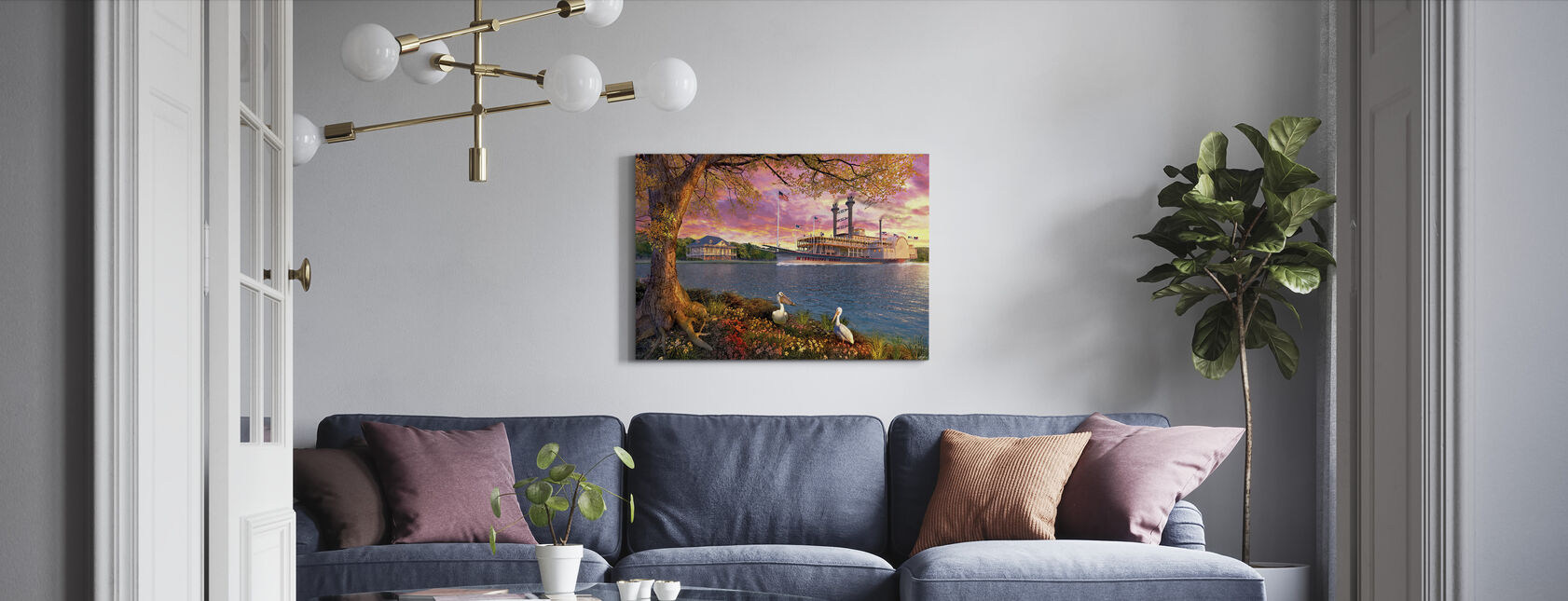 Mississippi Queen - Canvas print - Living Room