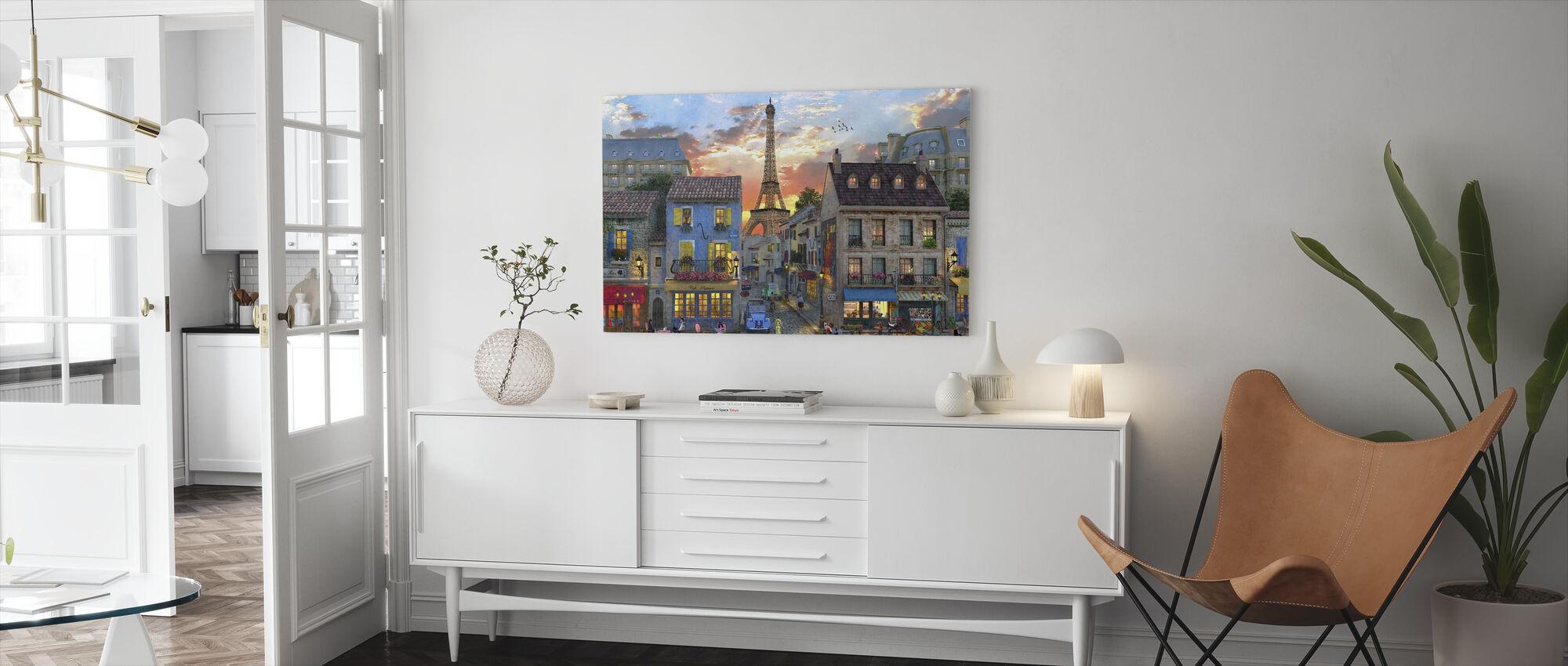Pariisin kadut - Canvastaulu - Olohuone