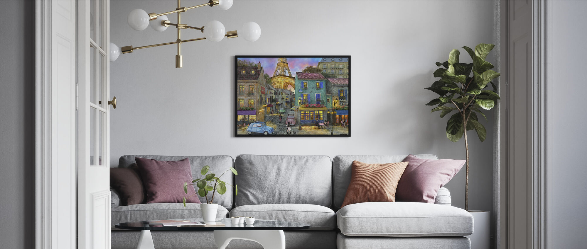 Paris Streets - Framed print - Living Room