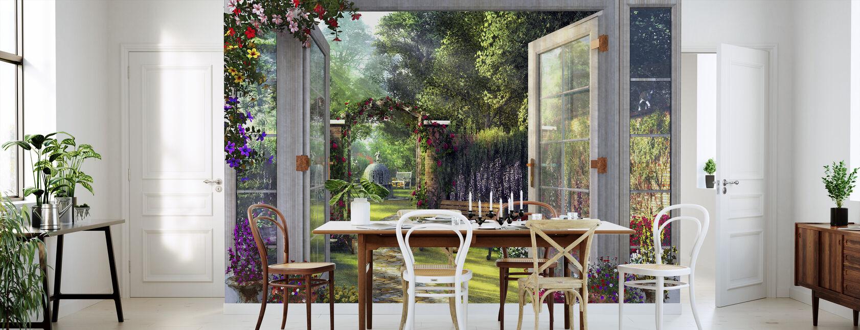 Garden View - Wallpaper - Kitchen