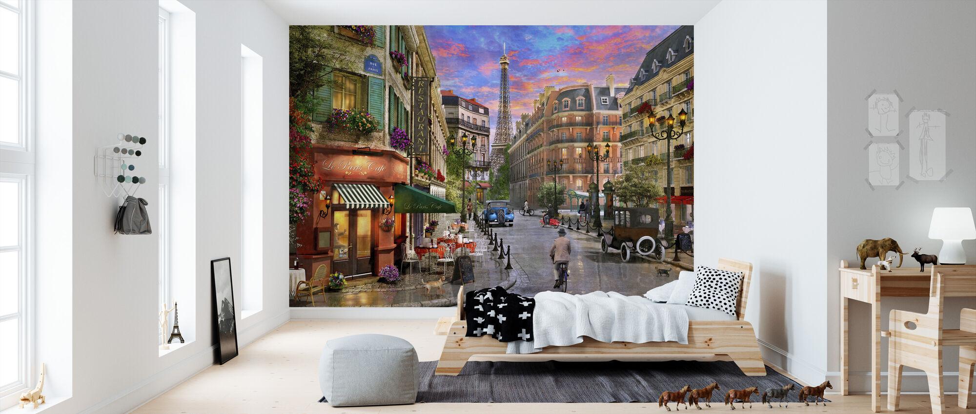 Paris Street - Wallpaper - Kids Room