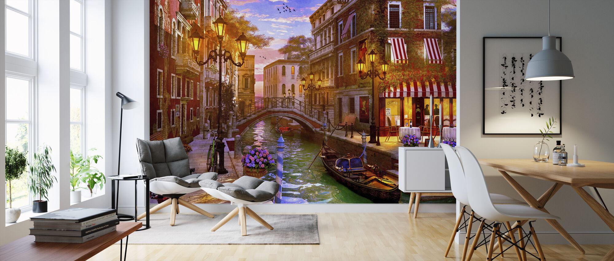 Solnedgang over Venedig - Tapet - Stue