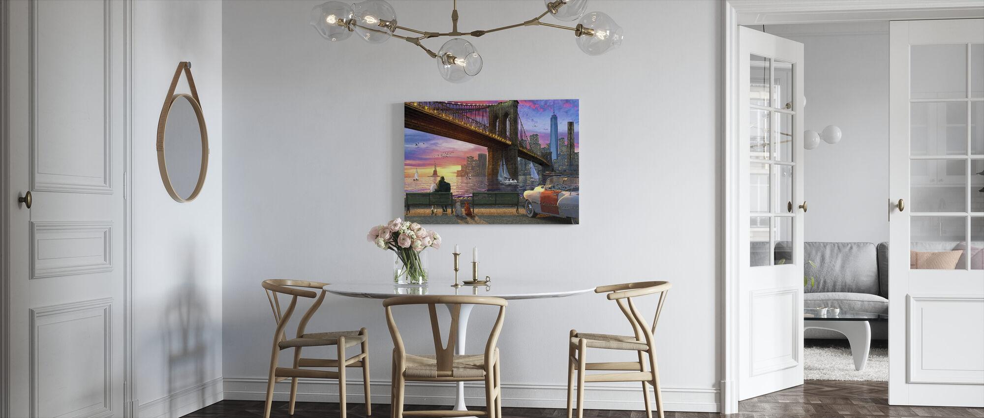 The NY Romance - Canvas print - Kitchen