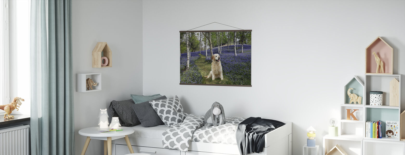Golden Retriever i skogen - Plakat - Barnerom