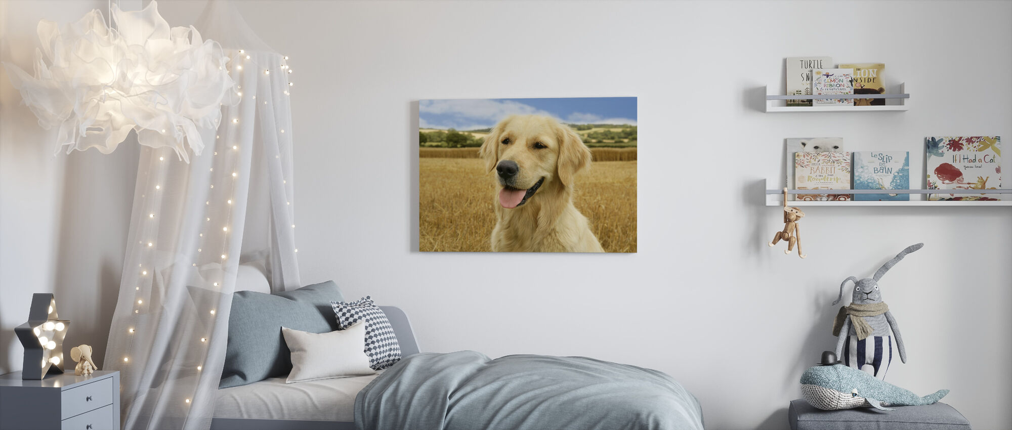Golden Retriever - Canvas print - Kids Room
