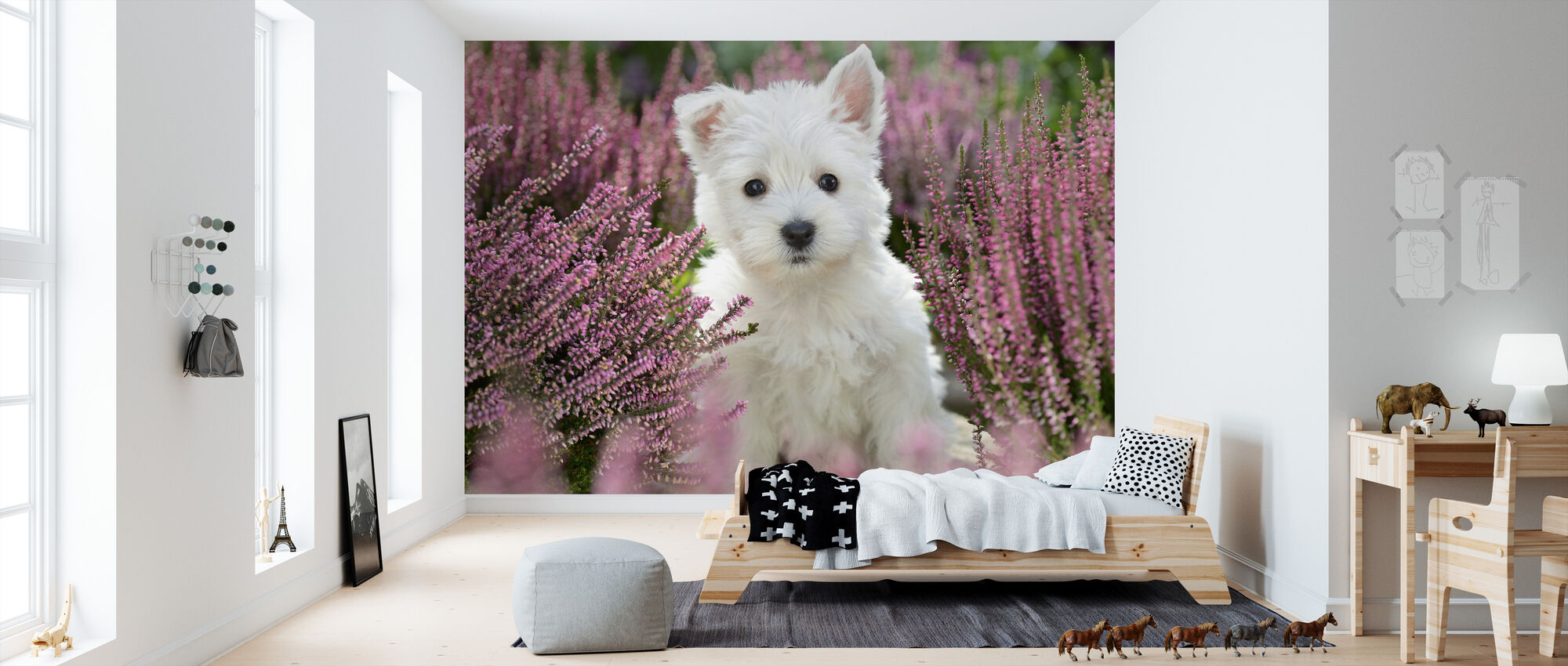 Dog Harmony - Wallpaper - Kids Room