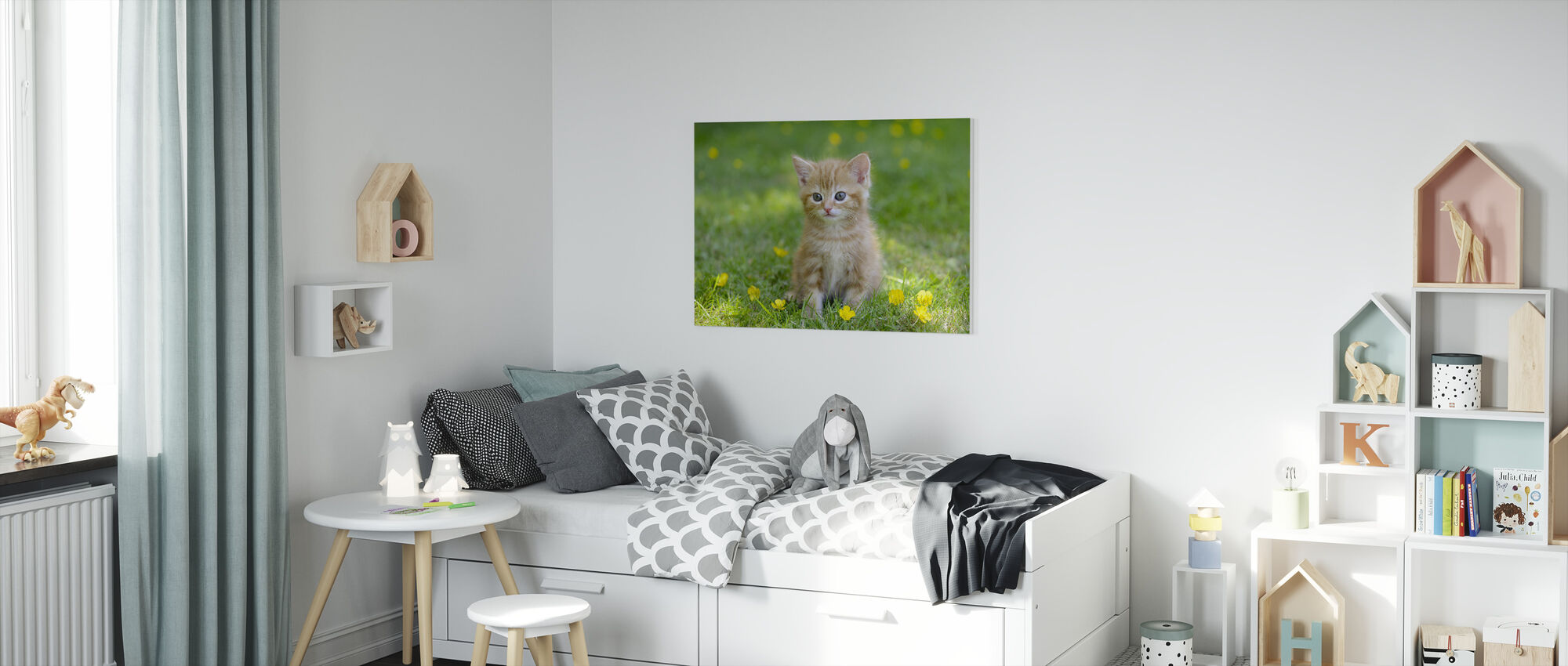 Ginger Cat - Canvas print - Kids Room