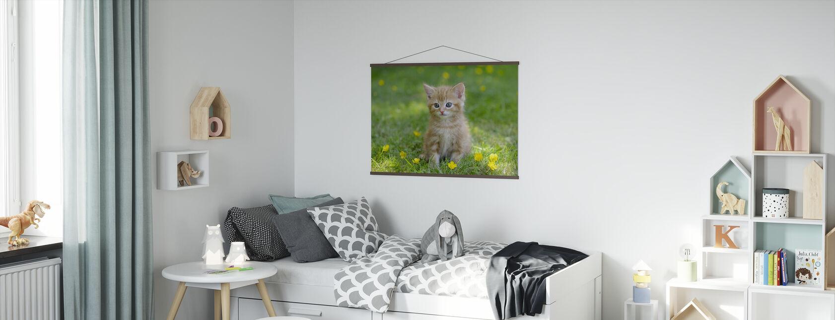 Ingefær kat - Plakat - Børneværelse