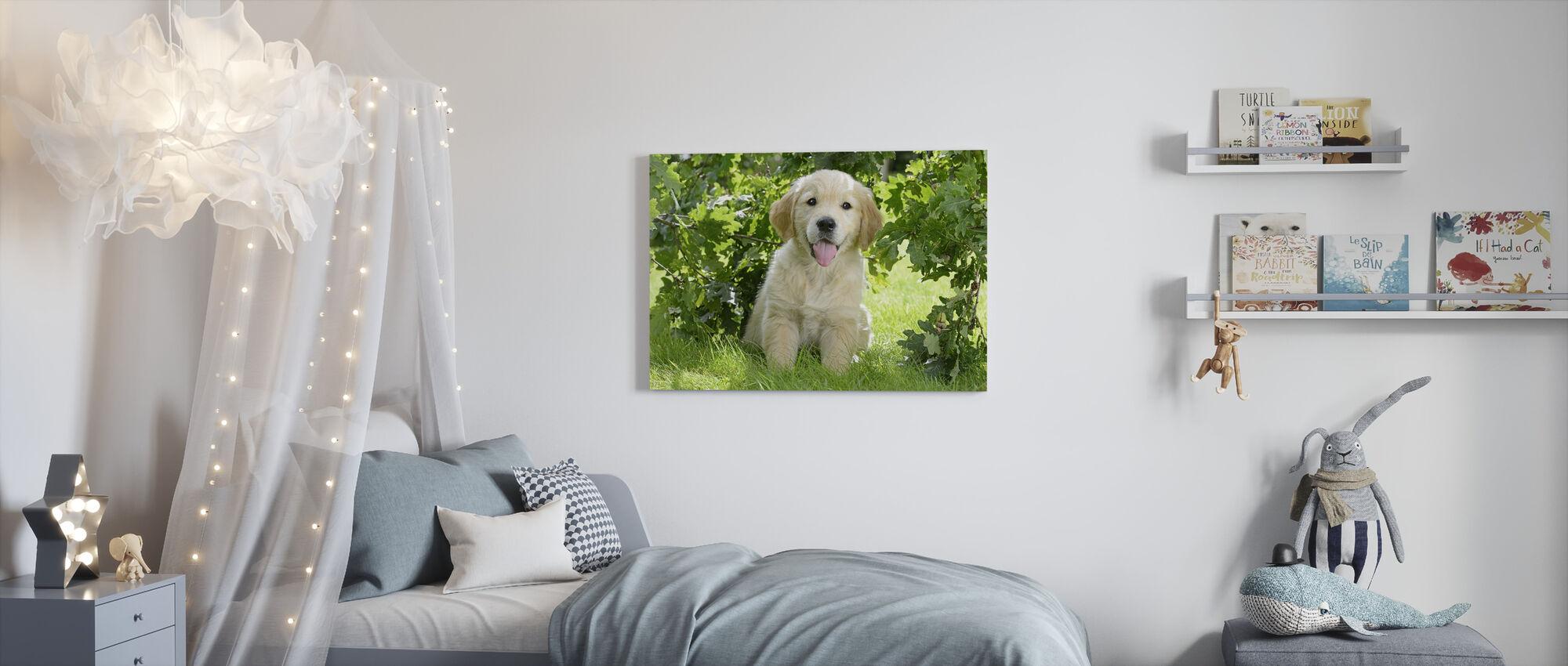Golden Retriever Puppy - Canvas print - Kids Room