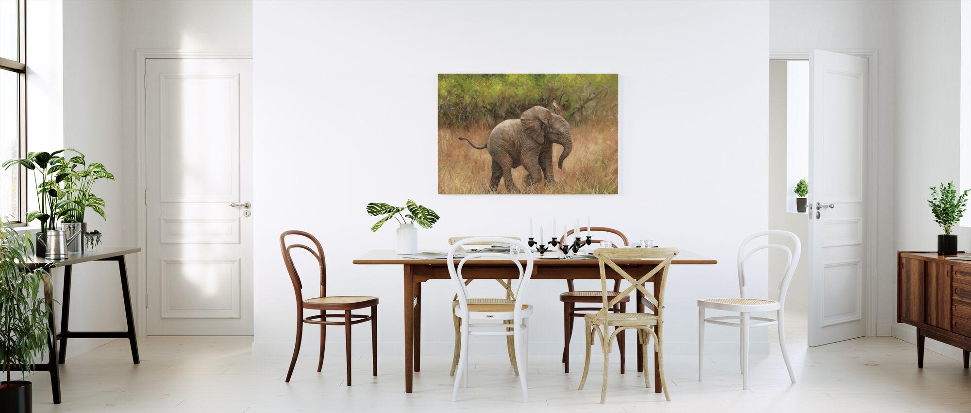 Baby afrikanske elefant - Lerretsbilde - Kjøkken