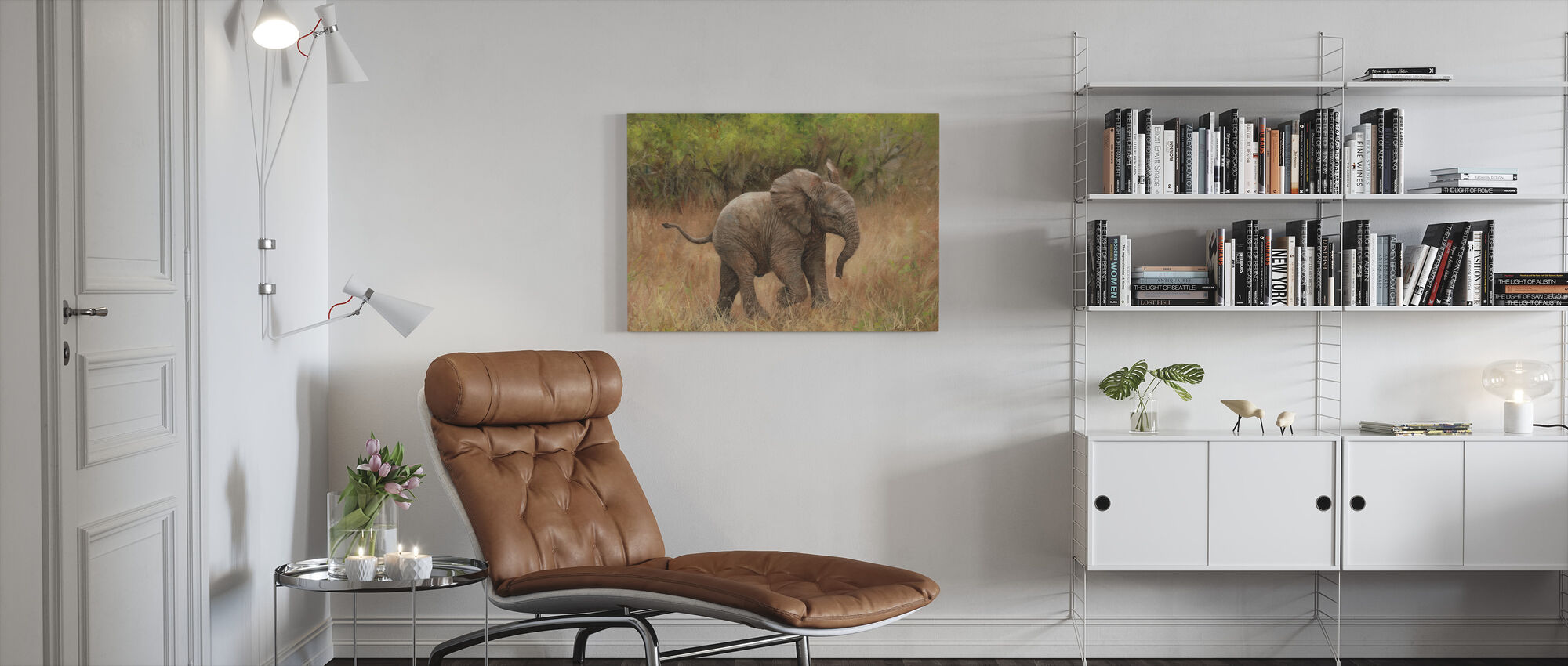 Baby Afrikaanse Olifant - Canvas print - Woonkamer