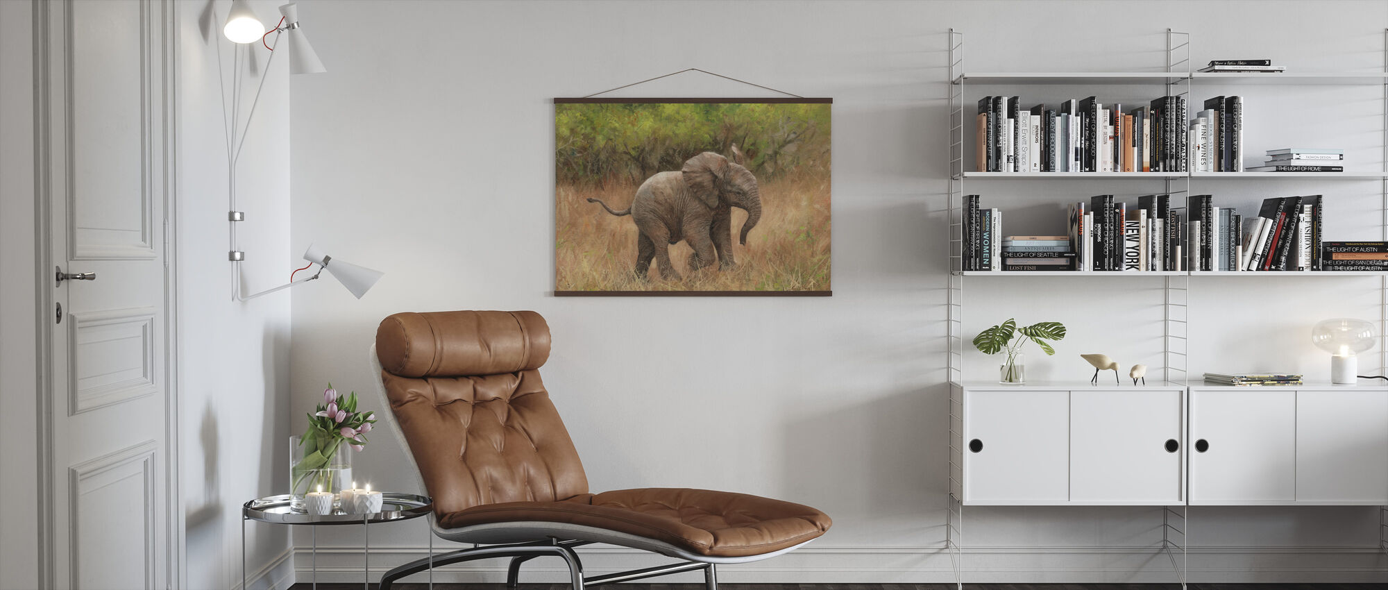 Baby Afrikaanse Olifant - Poster - Woonkamer