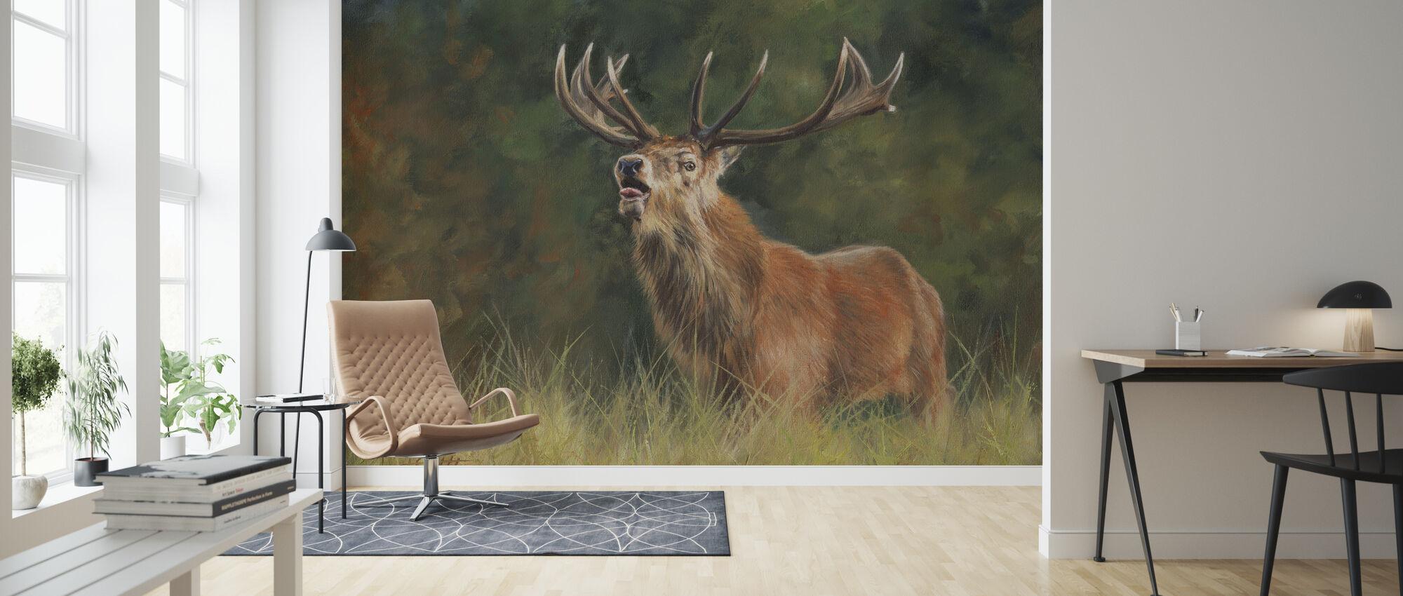 Röda hjortar Stag - Tapet - Vardagsrum