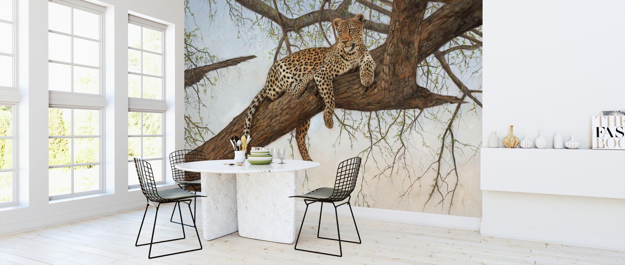 Luipaard in Boom - Behang - Keuken
