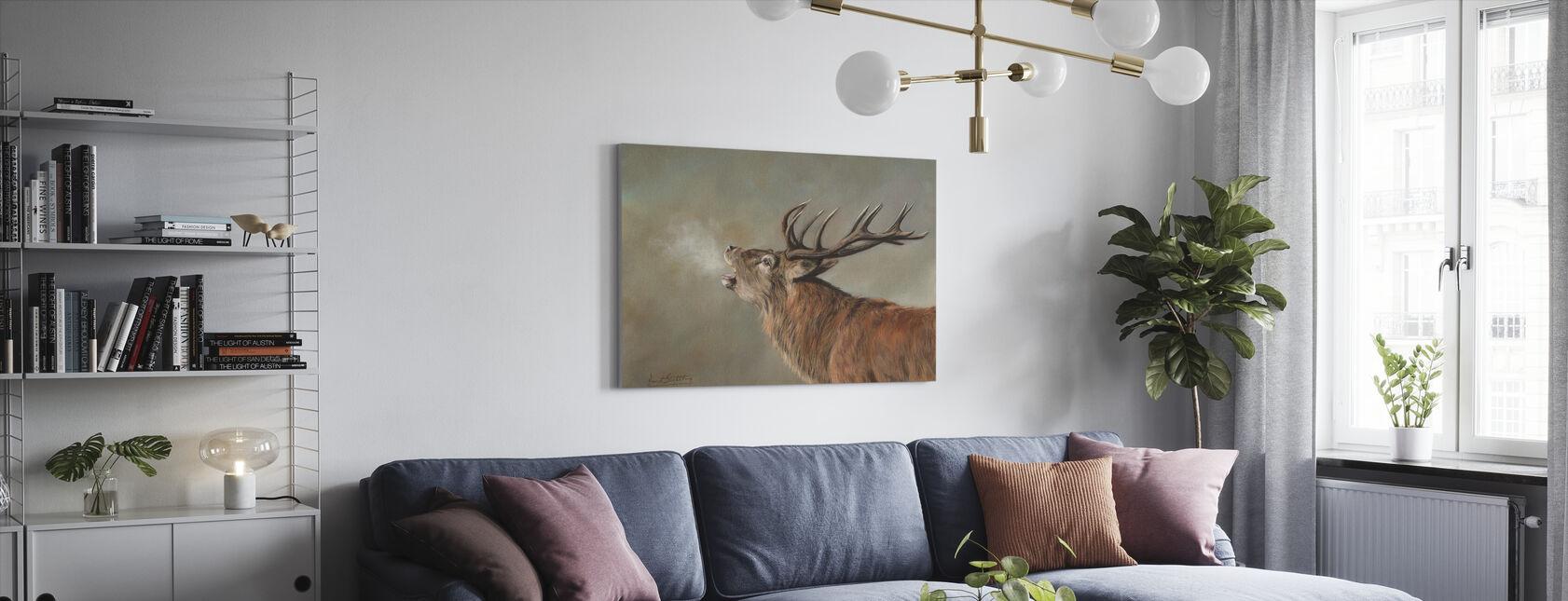 Hert Hert - Canvas print - Woonkamer