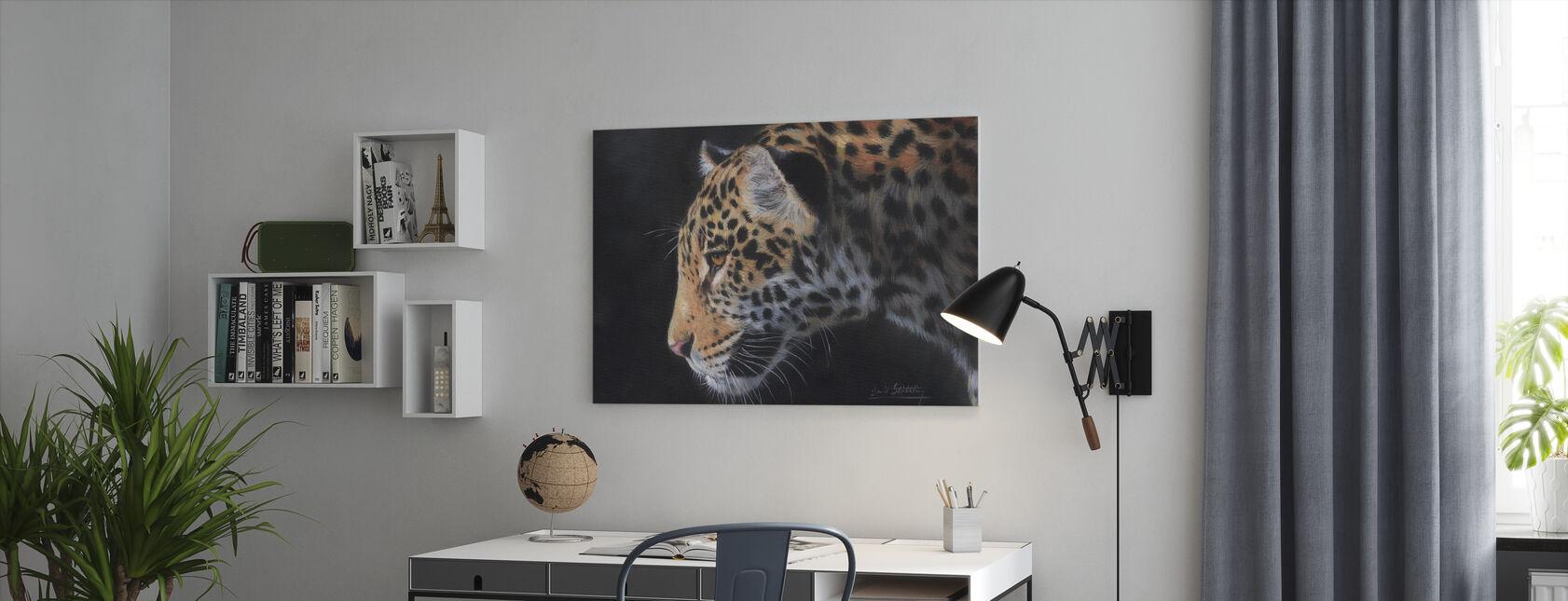 Jaguar Portrait - Canvas print - Office