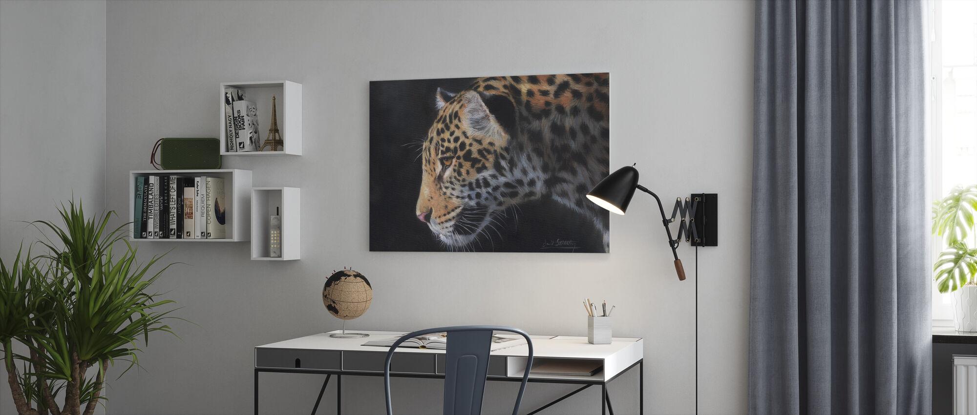 Jaguar Porträtt - Canvastavla - Kontor
