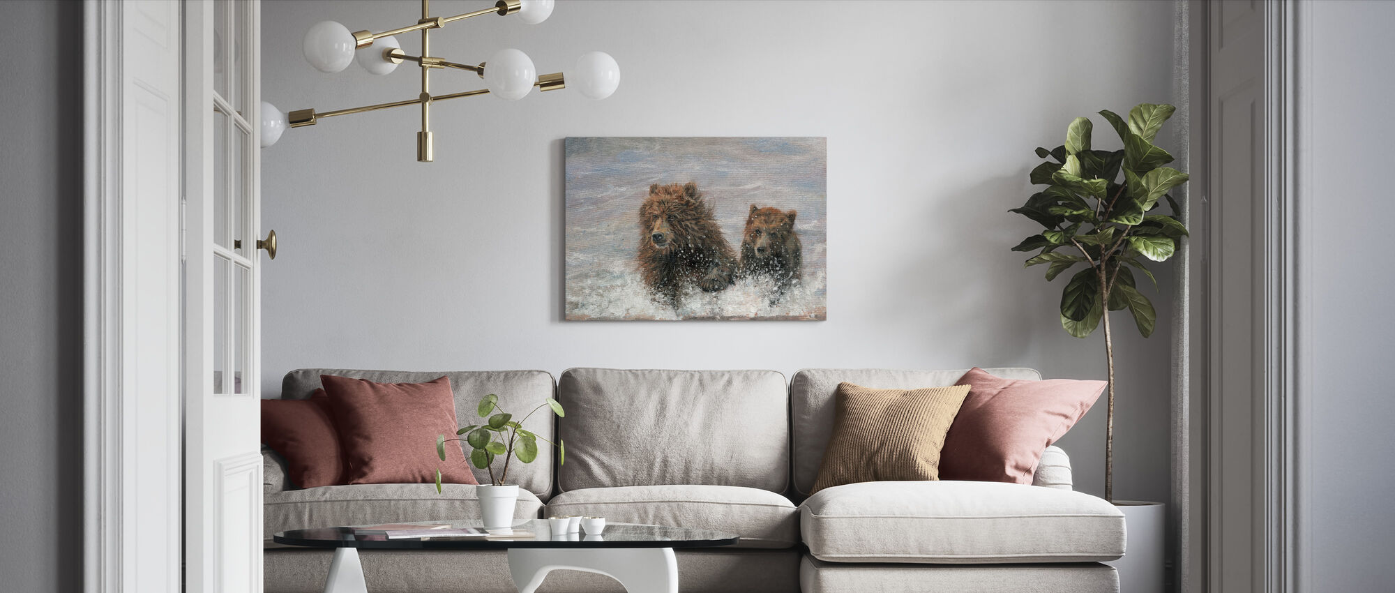 The Bears are Coming - Canvas print - Living Room