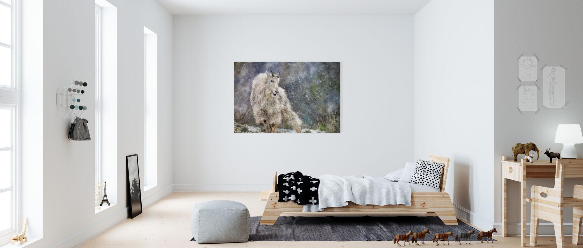 Wild Mountain Goat - Canvas print - Kids Room