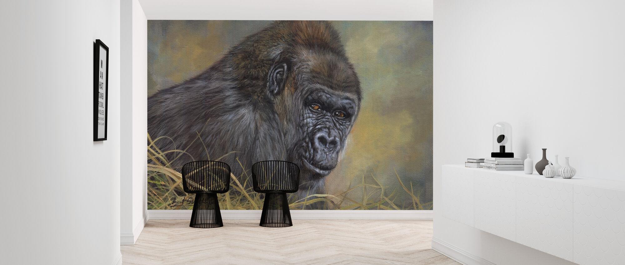 - Ja, Gorilla - Behang - Gang
