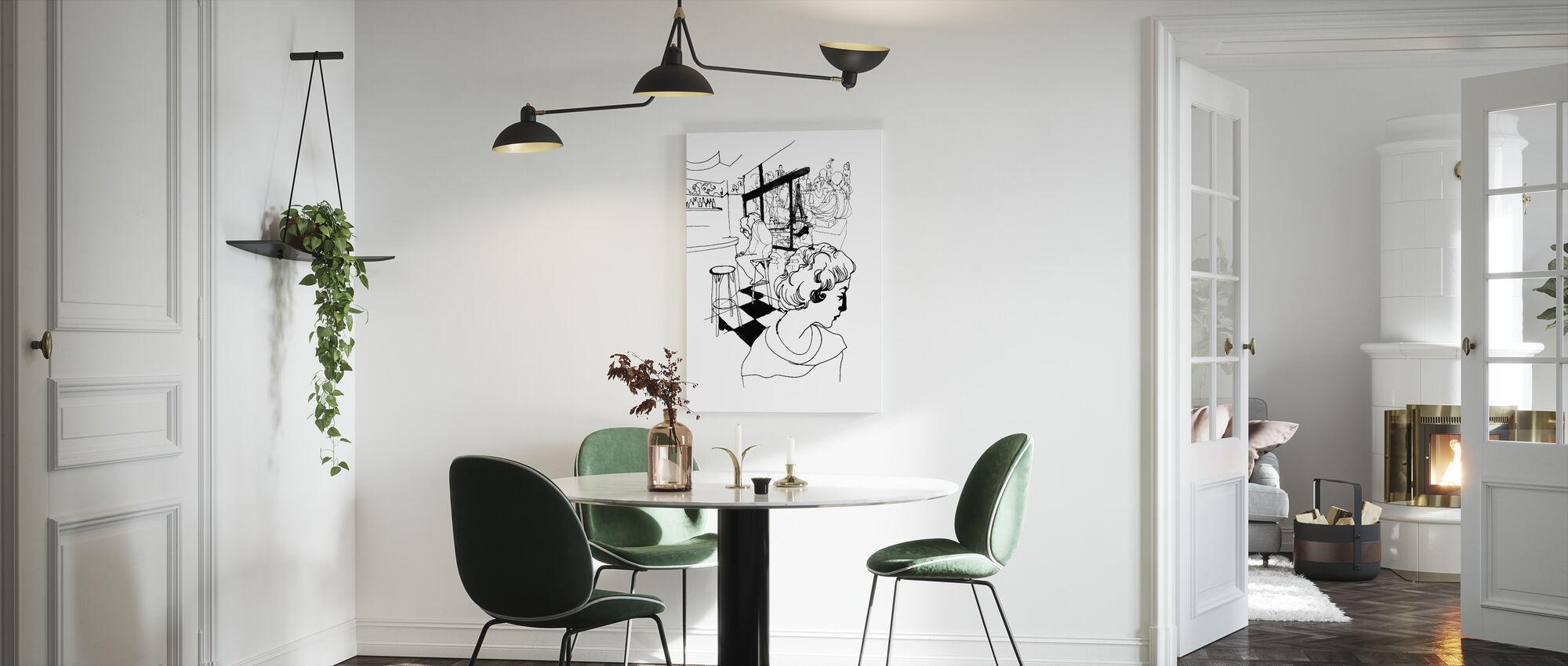Koffie in Parijs - Canvas print - Keuken