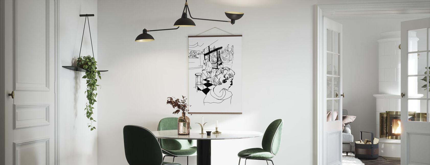 Kaffee in Paris - Poster - Küchen