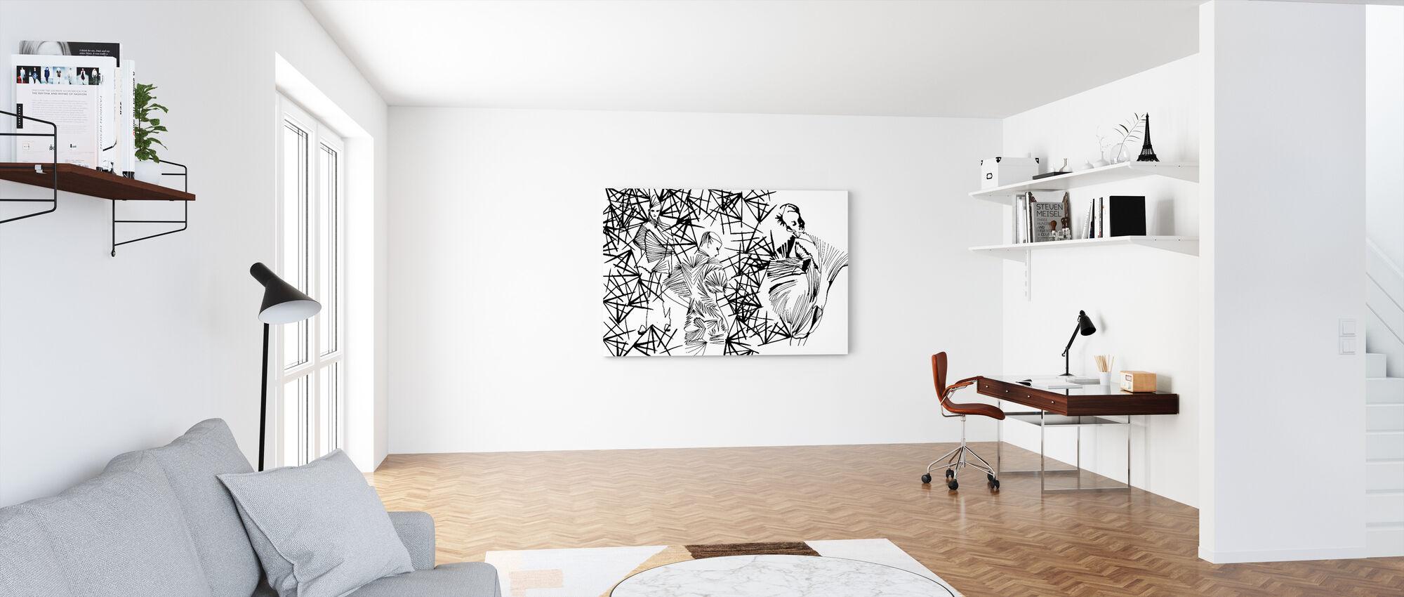 Plisserad skönhet - Canvastavla - Kontor