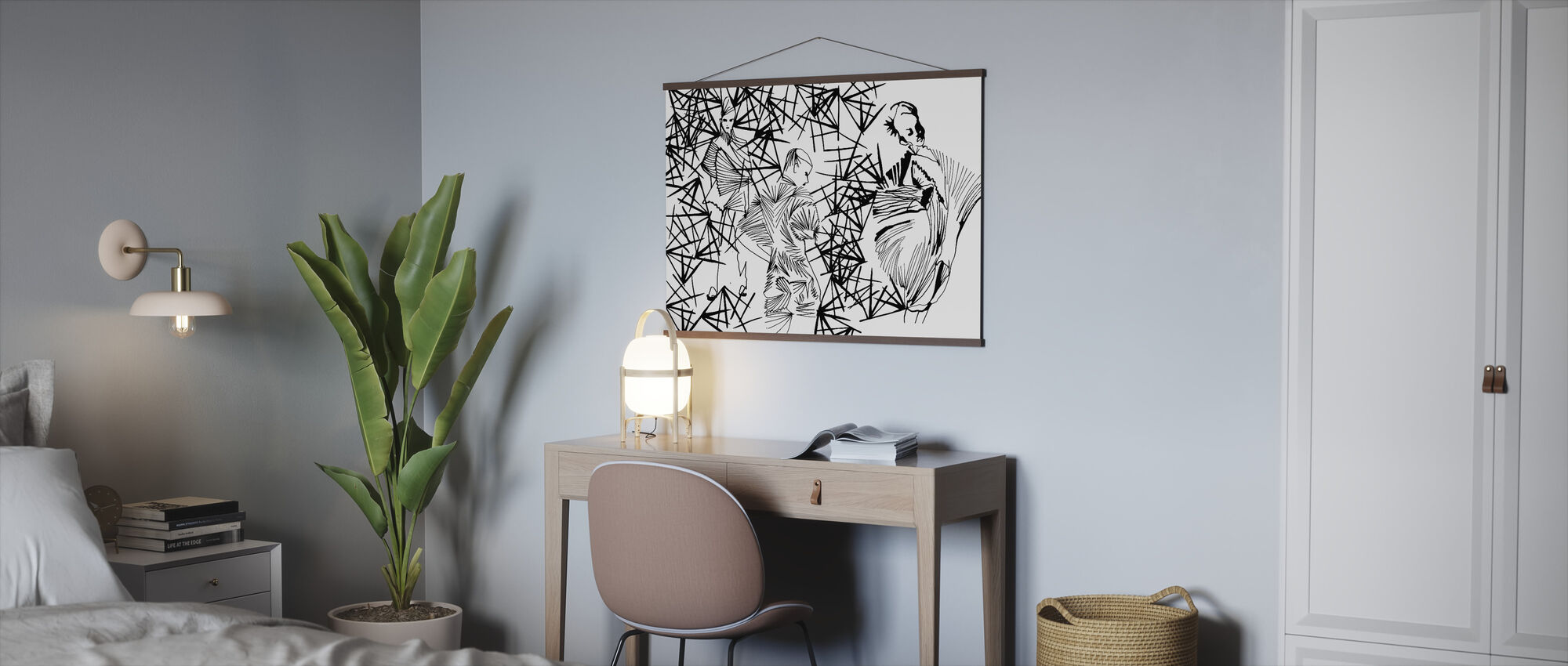 Pleated Beauty - Poster - Office