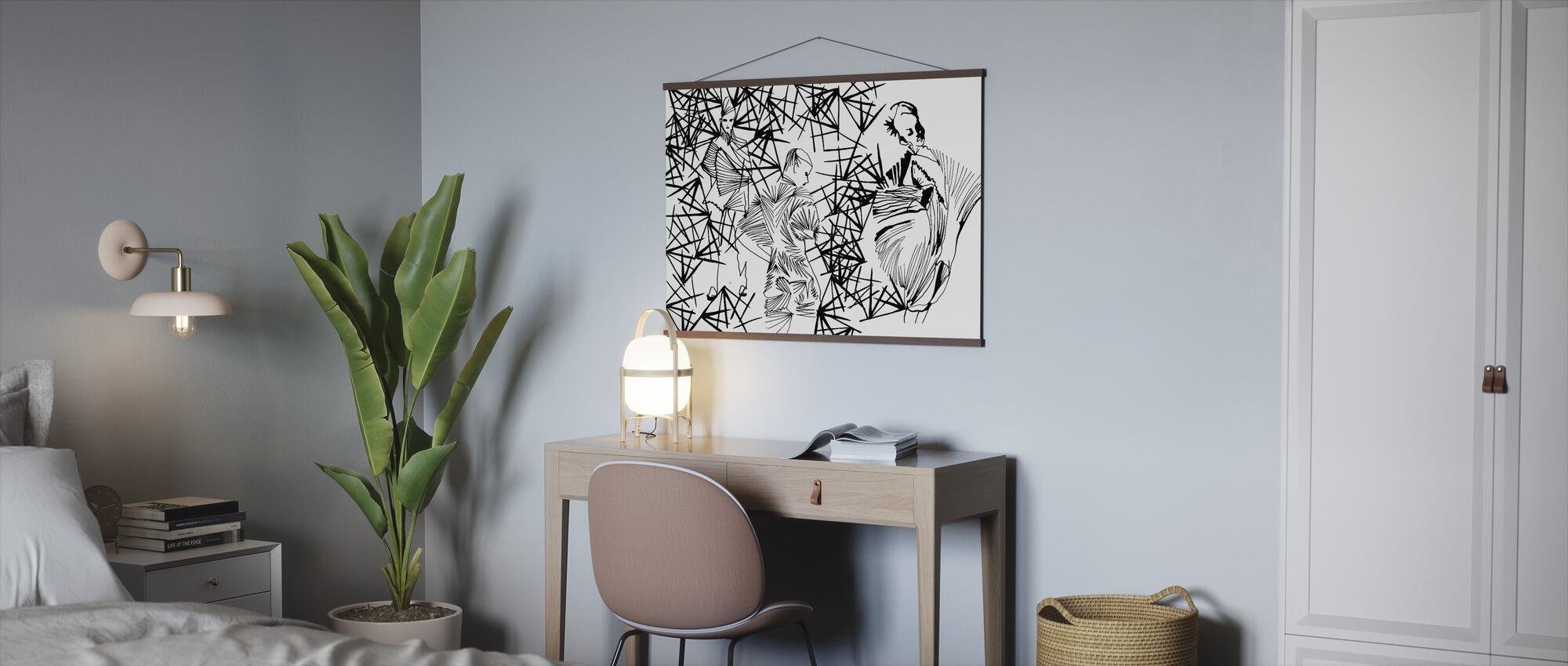 Geplooide schoonheid - Poster - Kantoor