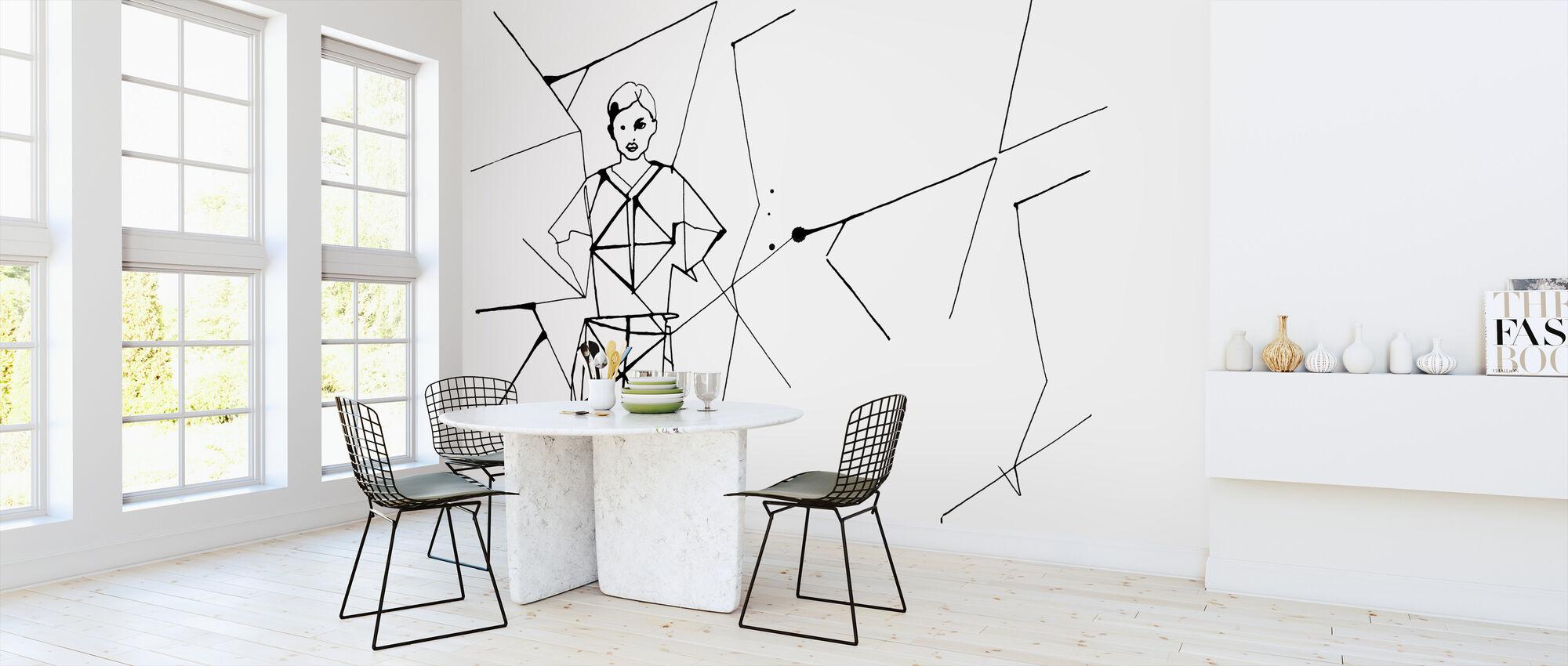 Pleated Beauty II - Wallpaper - Kitchen