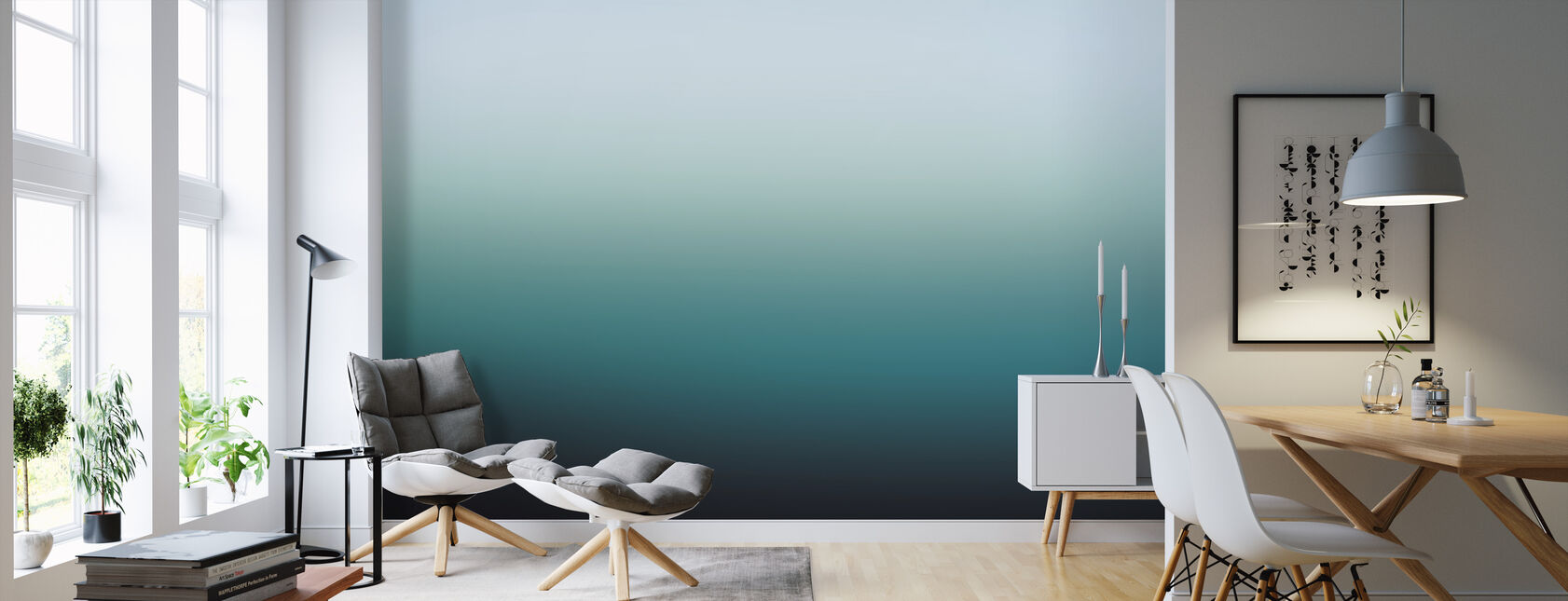 Miami Emerald - Behang - Woonkamer