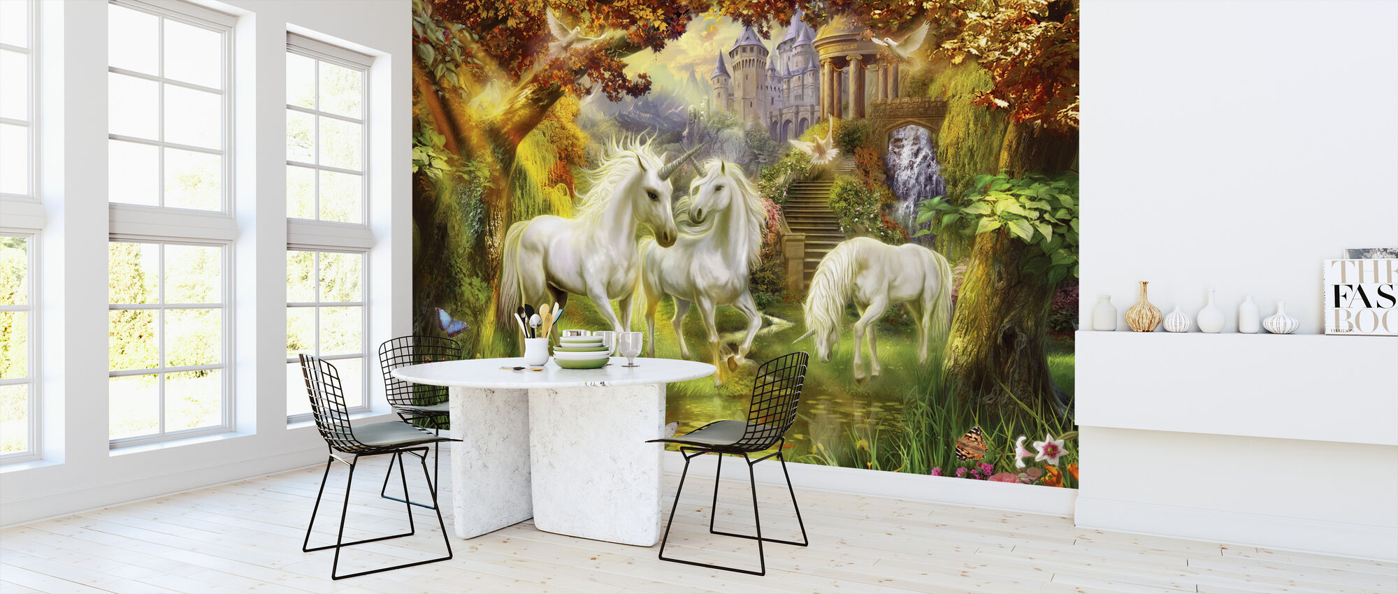 Magical Unicorn Forest Amended - Wallpaper - Kitchen