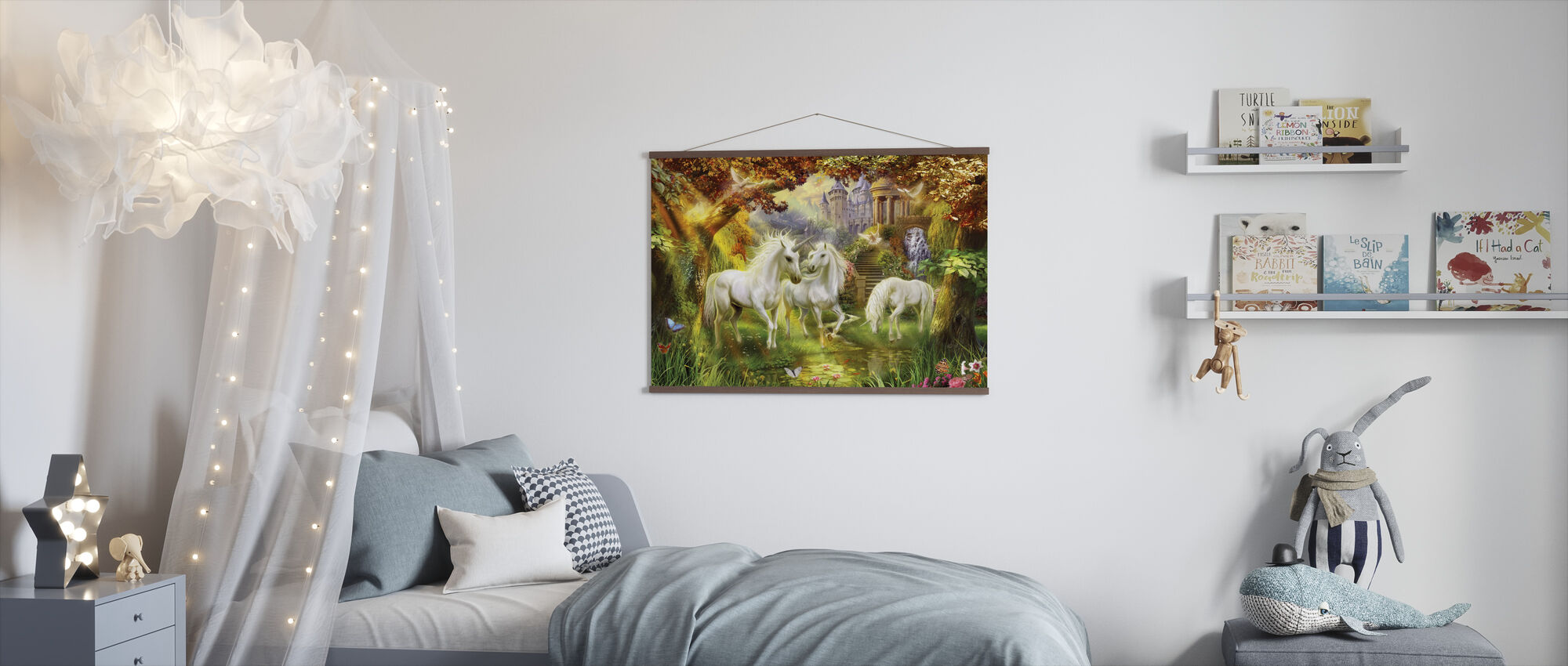 Magical Unicorn Forest Amended - Poster - Kids Room