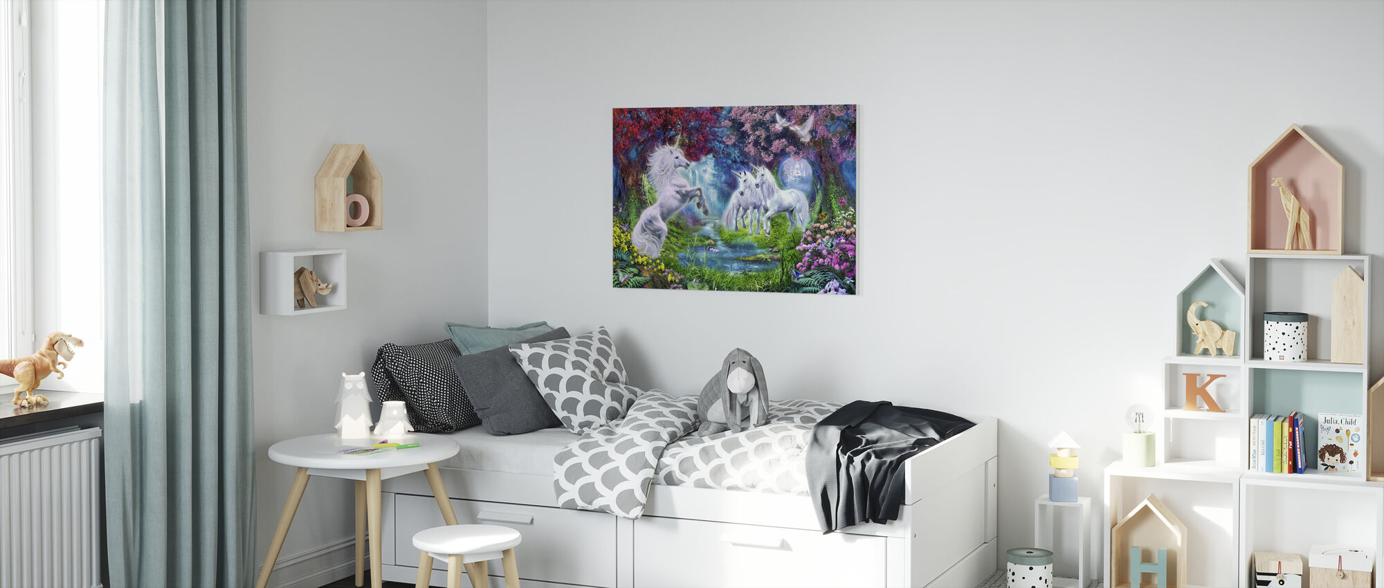 Unicorn Rendezvous - Canvas print - Kids Room