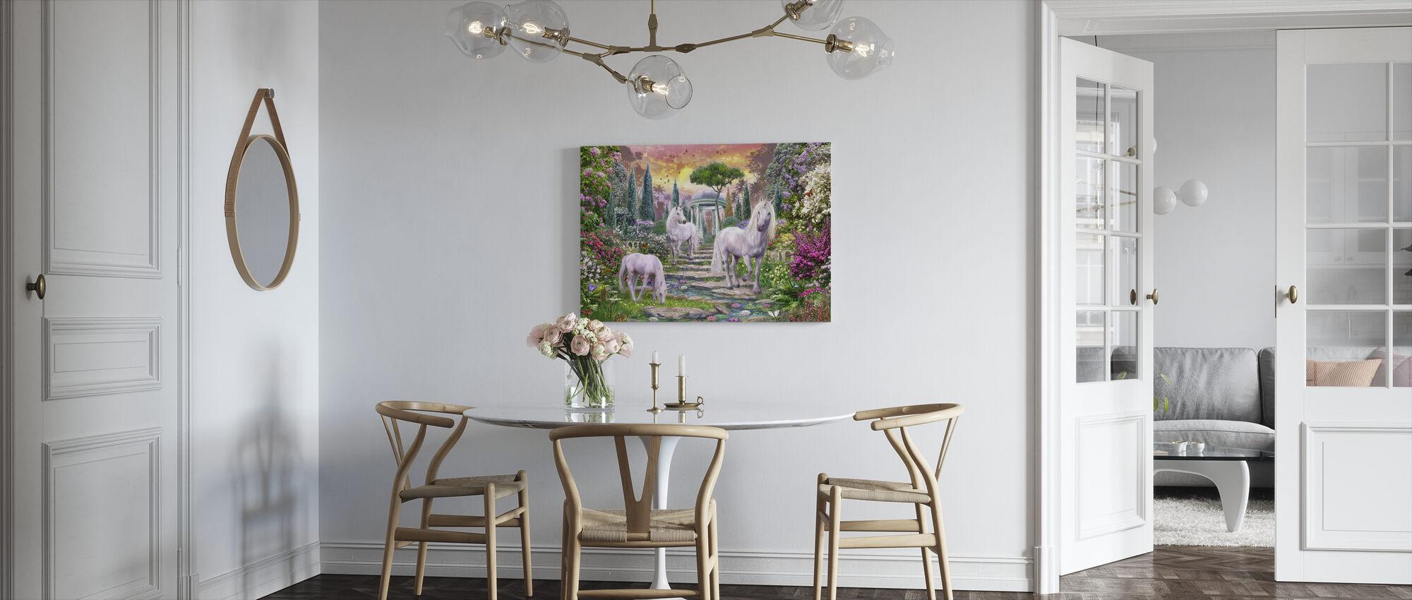 Classical Garden Unicorns - Canvas print - Kitchen