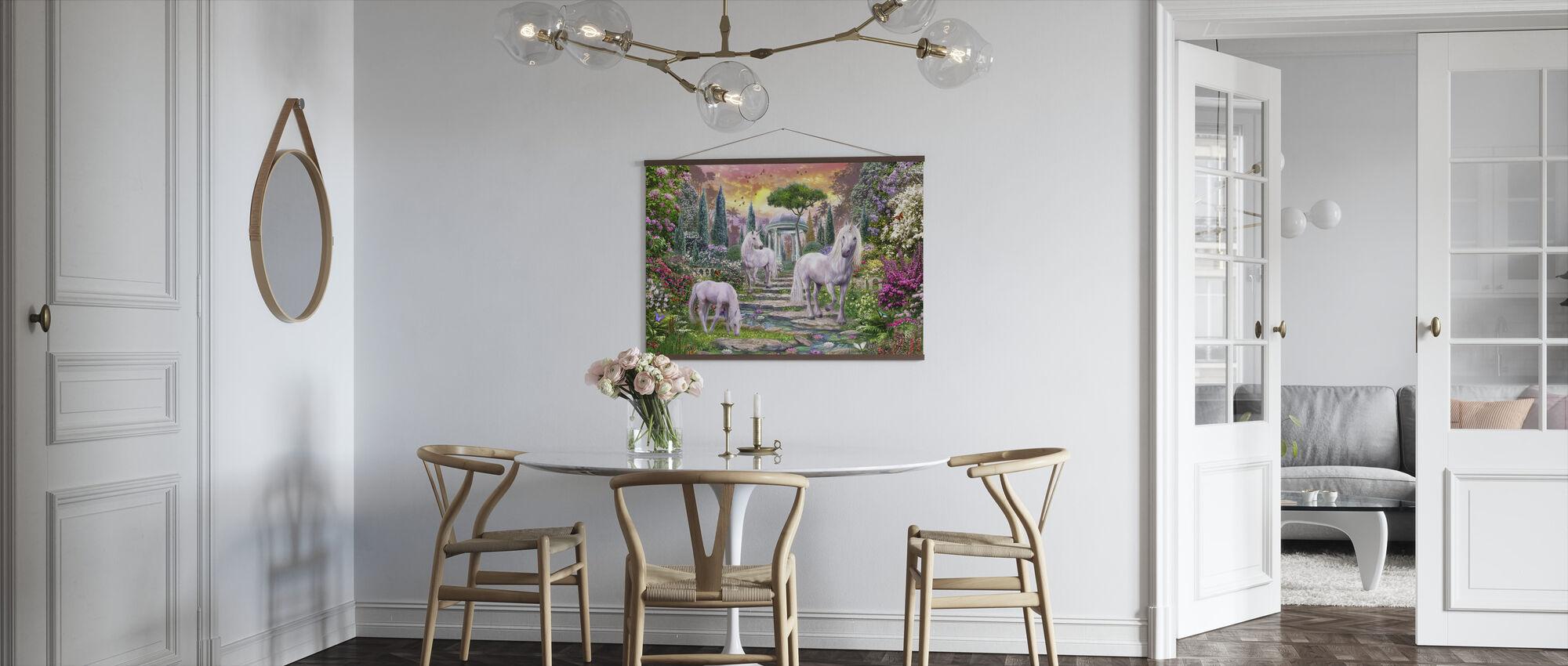Classical Garden Unicorns - Poster - Kitchen