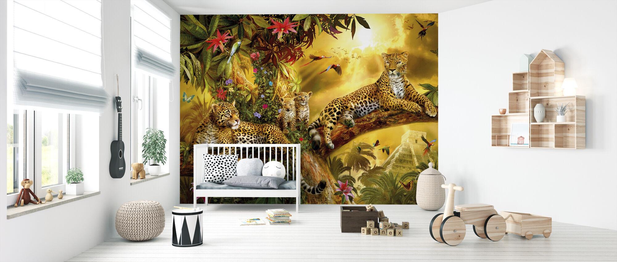 Jungle Jaguars - Behang - Babykamer