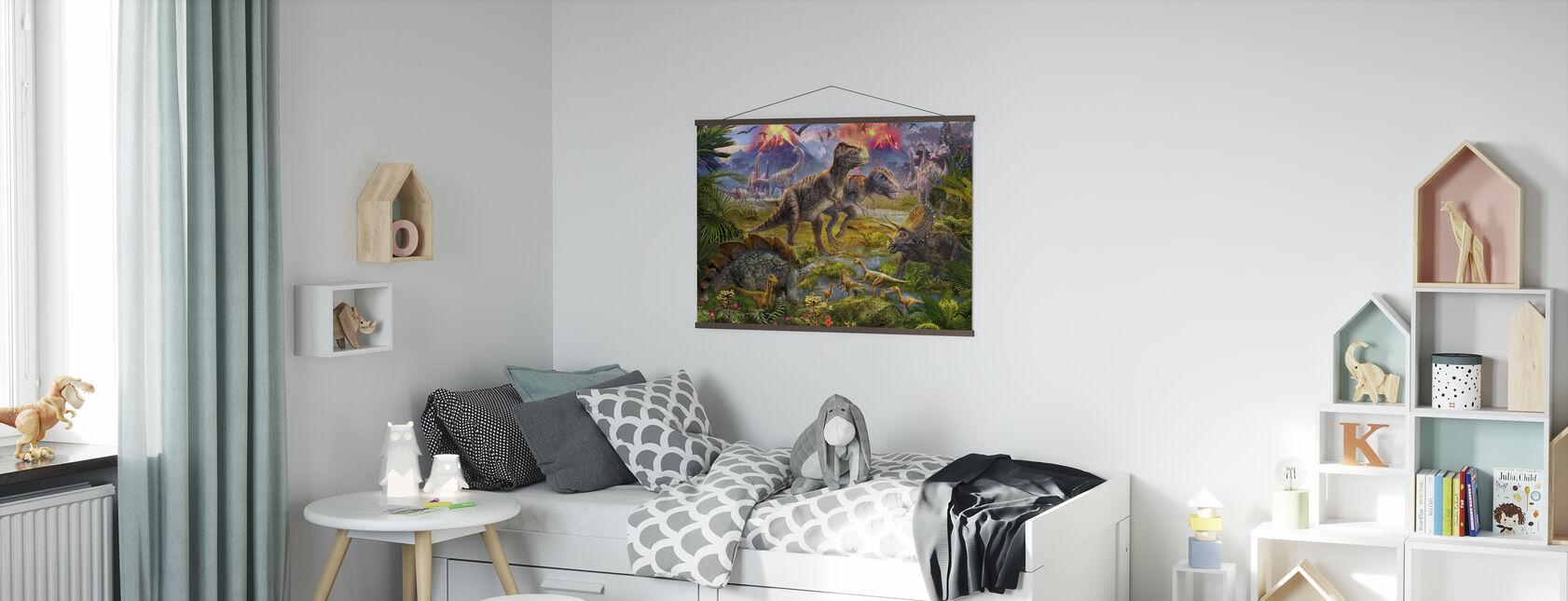 Dinosaurus verzamelen - Poster - Kinderkamer