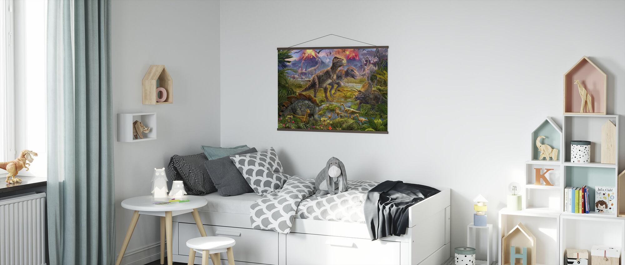 Dinosaur indsamling - Plakat - Børneværelse